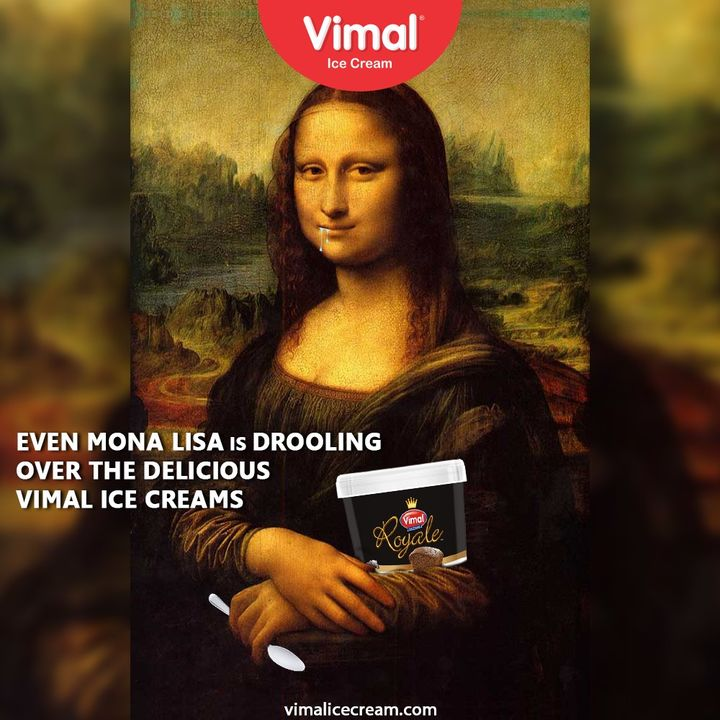 Even Mona Lisa is drooling over the delicious Vimal Ice Cream. You should also try it today.  #VimalIceCream #IceCreamLovers #Vimal #IceCream #Ahmedabad #trendingformat #trendingformats