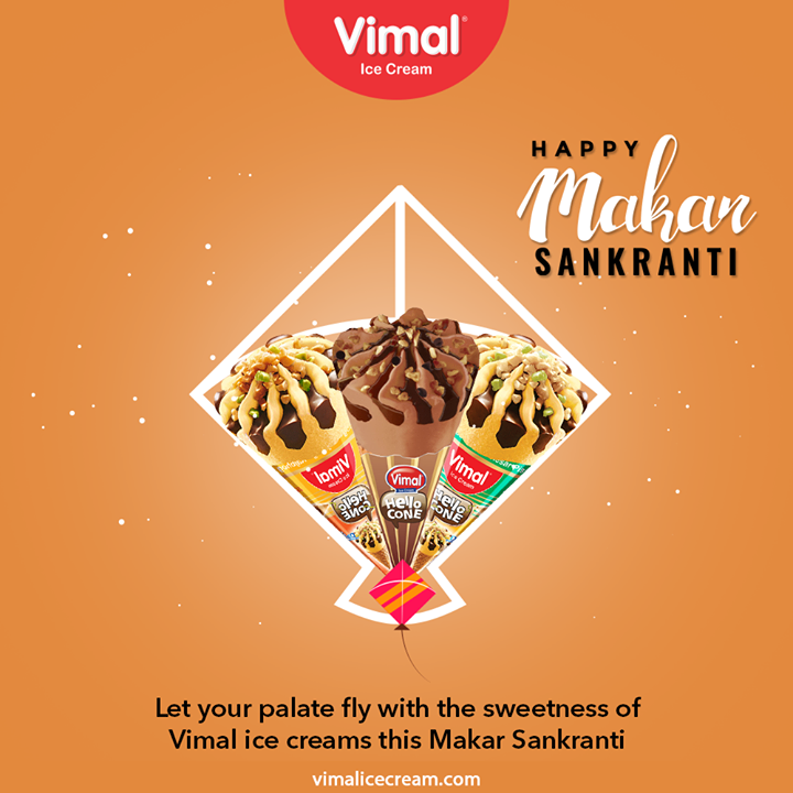 Let your palate fly with the sweeetness of Vimal IceCream this Makar Sankranti  #HappyMakarSankranti #Uttarayan #Uttarayan2021 #KiteFestival #KiteFlying #Kites #Patang #Celebration #Love #Happy #Cheers #Joy #VimalIceCream #IceCreamLovers #Vimal #IceCream #Ahmedabad