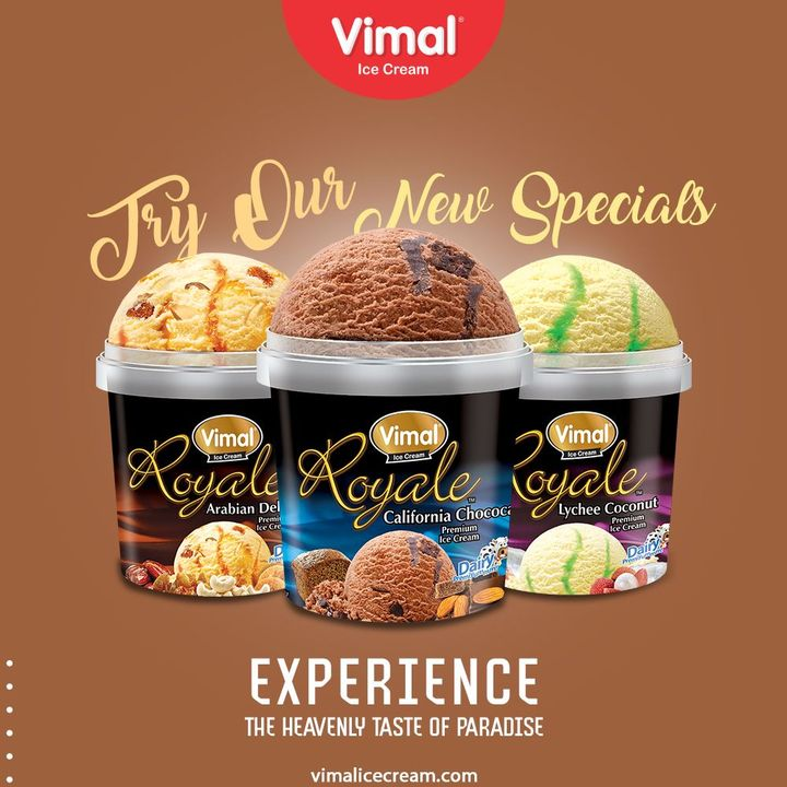 Try Our New Specials  Experience the heavenly taste of paradise with our creamy, rich texture special ice-creams.  #VimalIceCream #IceCreamLovers #Vimal #IceCream #Ahmedabad