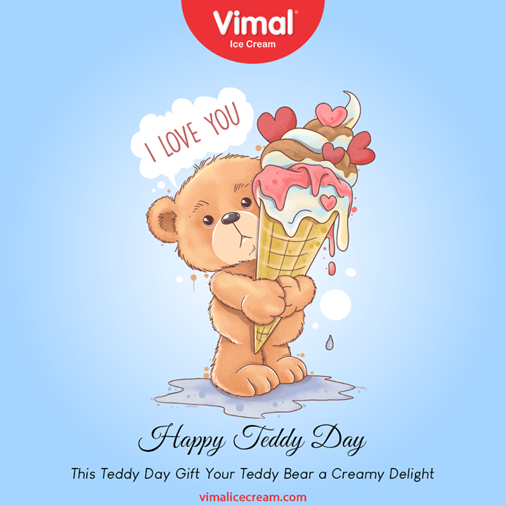 This Teddy Day Gift Your Teddy Bear a Creamy Delight Only with Vimal ice creams.  #TeddyDay #VimalIceCream #IceCreamLovers #Vimal #IceCream #Ahmedabad