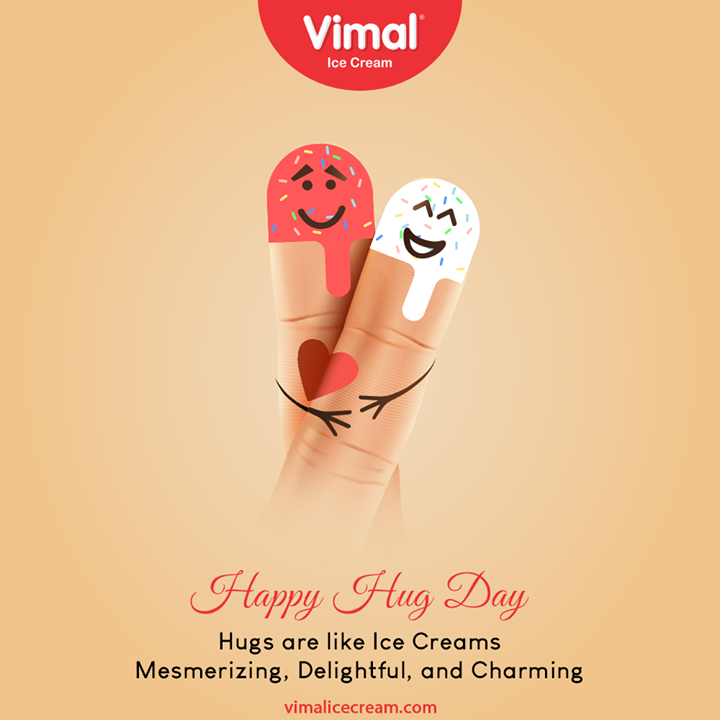 Hugs are like ice creams mesmerizing, delightful, and charming. Happy hugs day to everyone out there.  #HugDay  #VimalIceCream #IceCreamLovers #Vimal #IceCream #Ahmedabad
