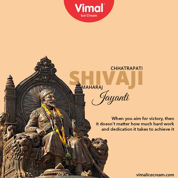Vimal Ice Cream,  ShivajiMaharajJayanti, shivajimaharaj, chhatrapatishivajimaharaj, VimalIceCream, IceCreamLovers, Vimal, IceCream, Ahmedabad