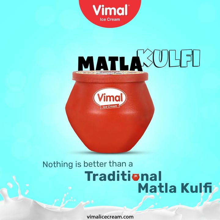 The authentic deliciousness of the awesome Matla kulfi delivered right to your palate, Only by your favorite Vimal Ice Cream.  #VimalIceCream #IceCreamLovers #Vimal #IceCream #Ahmedabad