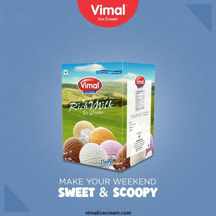 Make your weekend sweet & scoopy, only with the utter deliciousness of exclusive range of Vimal Ice Cream.  #SummerIsHere #VimalIceCream #IceCreamLovers #Vimal #IceCream #Ahmedabad