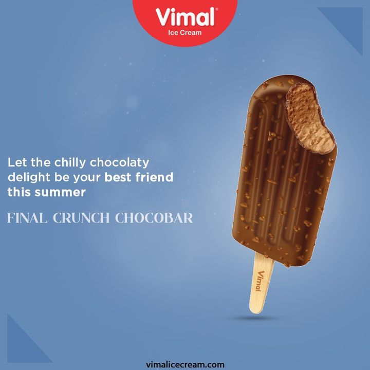 Let the chilly chocolaty delight be your best friend this summer and keep you cool in this rising heat. Only by Vimal Ice Cream.  #IcecreamTime #IceCreamLovers #FrostyLips #Vimal #IceCream #VimalIceCream #Ahmedabad