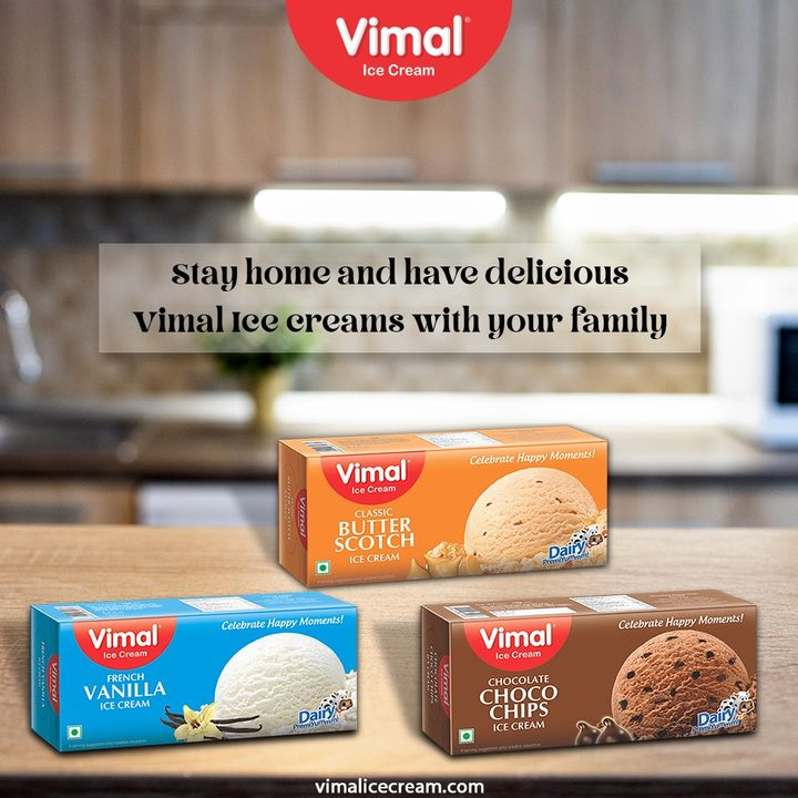 The safety of both you and your loved ones is in your hands.  Stay home and have delicious Vimal Ice creams with your family.  #StayHome #StaySafe #VimalIceCream #IceCreamLovers #Vimal #IceCream #Ahmedabad