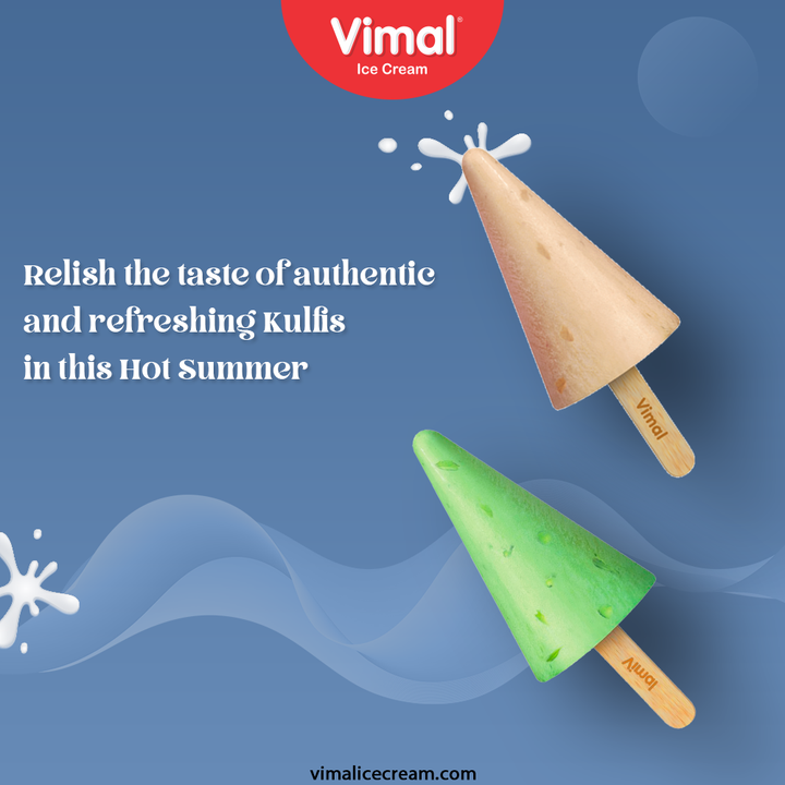 Relish the taste of authentic and refreshing Kulfis in this Hot Summer, only by Vimal Ice-creams.  #StayHome #StaySafe #VimalIceCream #IceCreamLovers #Vimal #IceCream #Ahmedabad