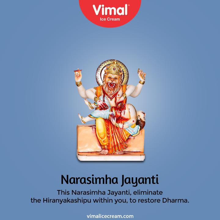 Vimal Ice Cream,  NarasimhaJayanti, HappyNarasimhaJayanti, FestiveGreetings, GoodWishes, VimalIceCream, IceCreamLovers, Vimal, IceCream, Ahmedabad