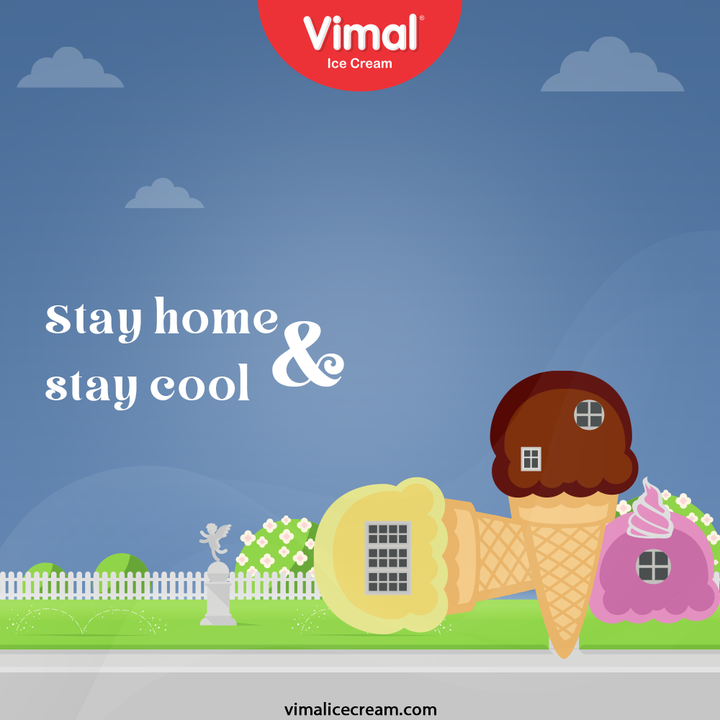 Keep beating the heat in cone-ilicious way!   Stay home and stay cool.  #VimalIceCream #IceCreamLovers #Vimal #IceCream #Ahmedabad