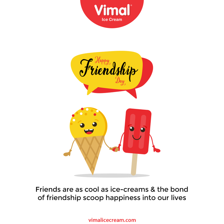 Friends are as cool as ice-creams & the bond of friendship scoop happiness into our lives   #FriendshipDay2021 #HappyFriendshipDay #FriendshipDay #FriendsForever #Friendship #Friends #VimalIceCream #IceCreamLovers #Vimal #IceCream #Ahmedabad
