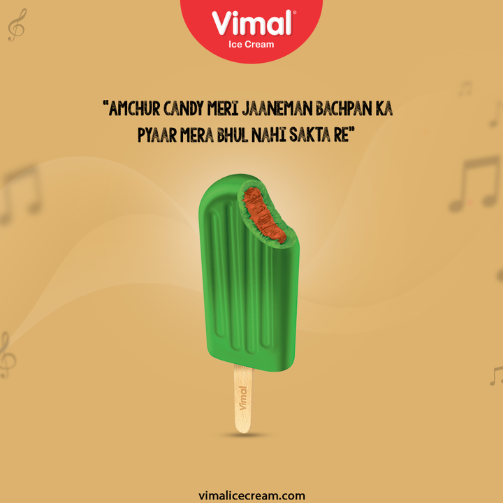 Amchur candy meri jaaneman bachpan ka pyaar mera bhul nahi sakta re.  Tell us how much you love this trending song and your childhood favourite amchur candy!  #HappyYouHappierUs #Trending #TrendingPost #TrendingSong #TrendingFormat #VimalIceCream #IceCreamLovers #Vimal #IceCream #Ahmedabad #HappyScooping