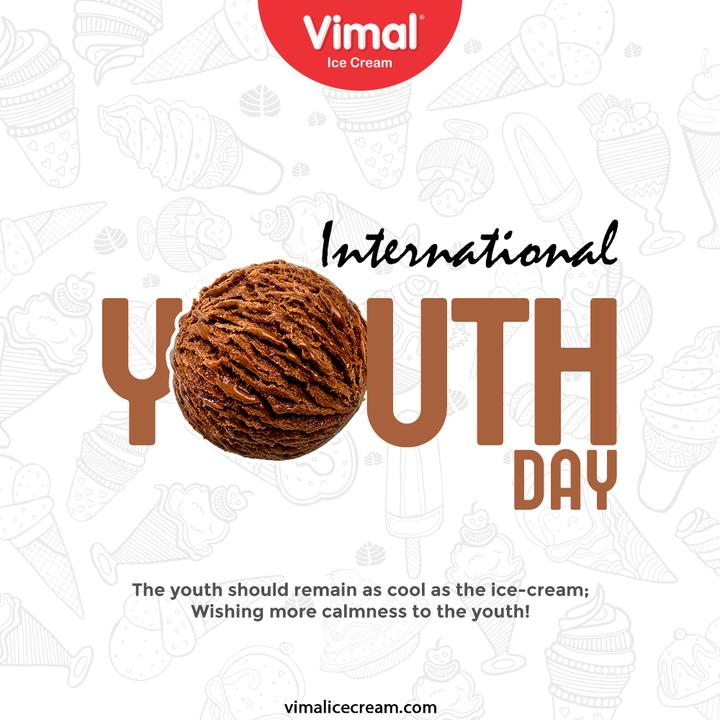 Vimal Ice Cream,  internationalyouthday, youthday, youthday2021, youth, Vimal, IceCream, Ahmedabad, HappyScooping, RaspberryDolly