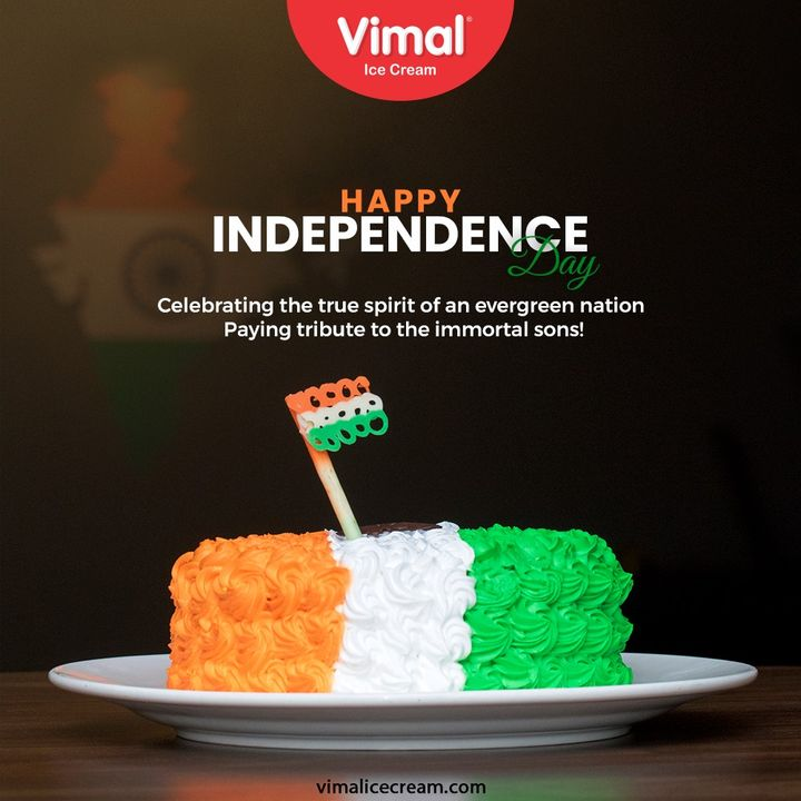 Celebrating the true spirit of an evergreen nation  Paying tribute to the immortal sons!  #HappyIndependenceDay #IndependenceDay #IndianIndependenceDay #15August2021 #HappyIndependenceDay2021 #IndiaAt75 #VimalIceCream #IceCreamLovers #Vimal #IceCream #Ahmedabad