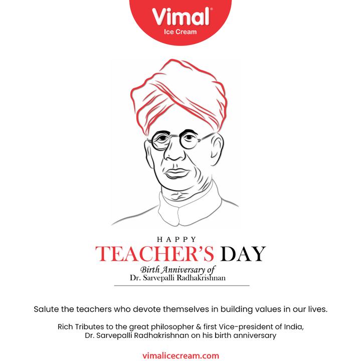 Vimal Ice Cream,  HappyTeachersDay, TeachersDay2021, TeachersDay, DrSarvepalliRadhakrishnan, BirthAnniversary, VimalIceCream, IceCreamLovers, Vimal, IceCream, Ahmedabad