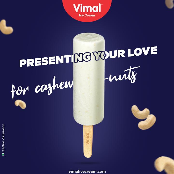 Do you love cashew-nuts? Do you love kulfi ice-creams too? If yes, then treat yourself with our cashew kulfi.  #ThinkOfIcecreams #ChocolateLovers #CashewKulfi #Kulfi #VimalIceCream #IceCreamLovers #Vimal #IceCream #Ahmedabad