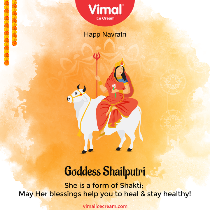 She is a form of Shakti;  May Her blessings help you to heal & stay healthy!  #Navratri #Navratri2021 #HappyNavratri #HappyNavratri2021 #Festival #VimalIceCream #IceCreamLovers #Vimal #IceCream #Ahmedabad