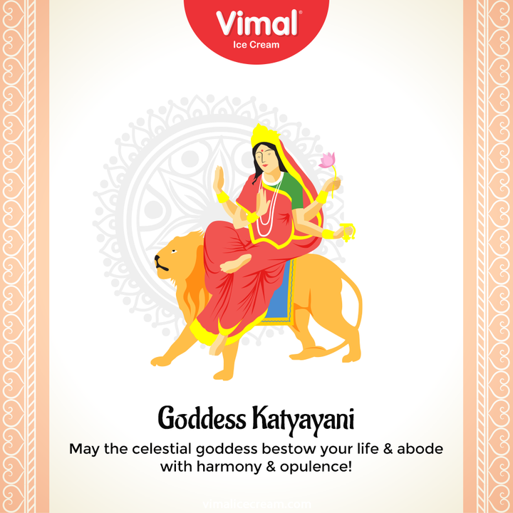 May the celestial goddess bestow your life & abode with harmony & opulence!  #Navratri #Navratri2021 #HappyNavratri #HappyNavratri2021 #Festival #VimalIceCream #IceCreamLovers #Vimal #IceCream #Ahmedabad