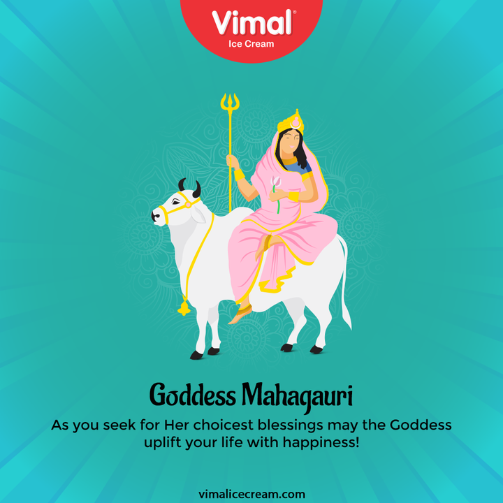 As you seek for Her choicest blessings may the Goddess uplift your life with happiness!  #Navratri #Navratri2021 #HappyNavratri #HappyNavratri2021 #Festival #VimalIceCream #IceCreamLovers #Vimal #IceCream #Ahmedabad