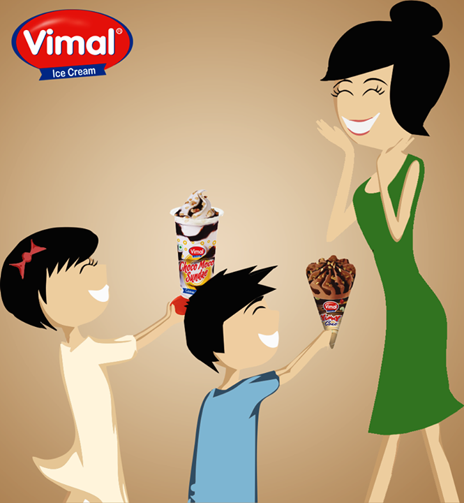 This Mother's Day #weekend give your mom, the sweetest treat.  #VimalIceCreams #IceCreamLovers