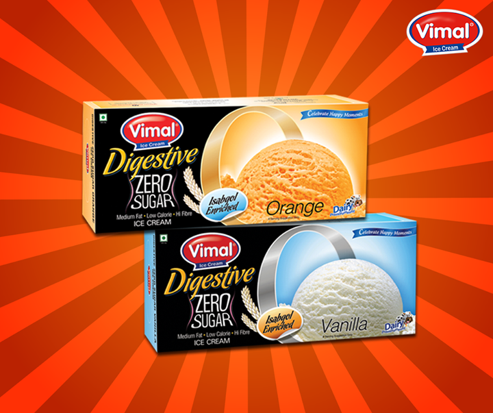Here is a treat for all of you who are on a diet! Low in calories, sugar free and high in fiber ice cream to keep you healthy!  #Summers #IceCreamLovers #VimalIceCreams #DessertLovers