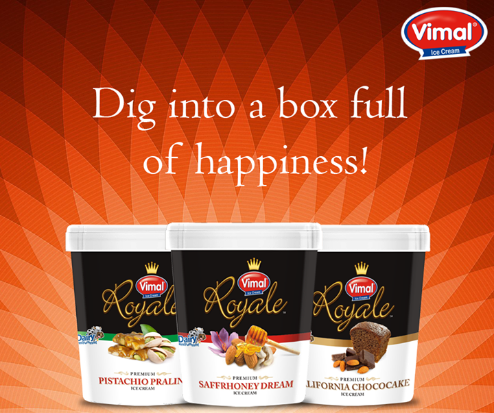 "Enjoy life to the fullest with the Vimal Ice Cream ""happiness box.""  #Summers #IceCreamLovers #VimalIceCreams #DessertLovers"