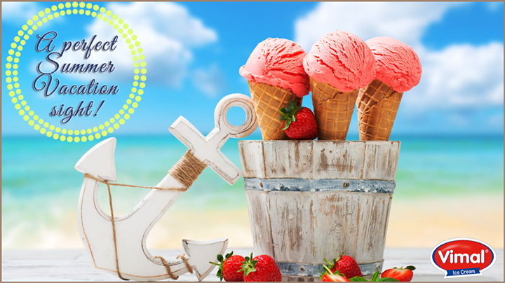 A perfect #Summer sight!   #IceCreamLovers #VimalIceCreams #Happiness