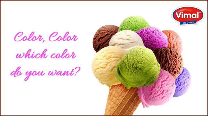 Which is your favorite colored ice-cream scoop?  #IceCreams #VimalIceCreams #IceCreamLovers