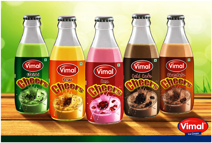Unwind from the hectic #Monday chaos and treat yourself to some #VimalDairy refreshers.