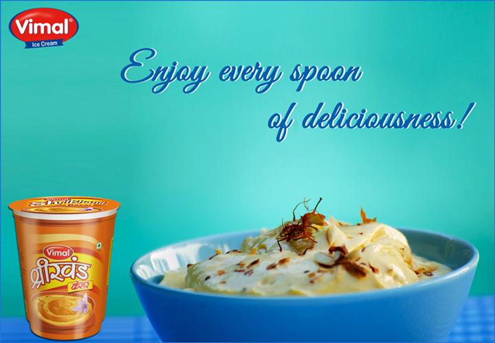 Experience the real taste!  #VimalIcecream #KesarShrikhand