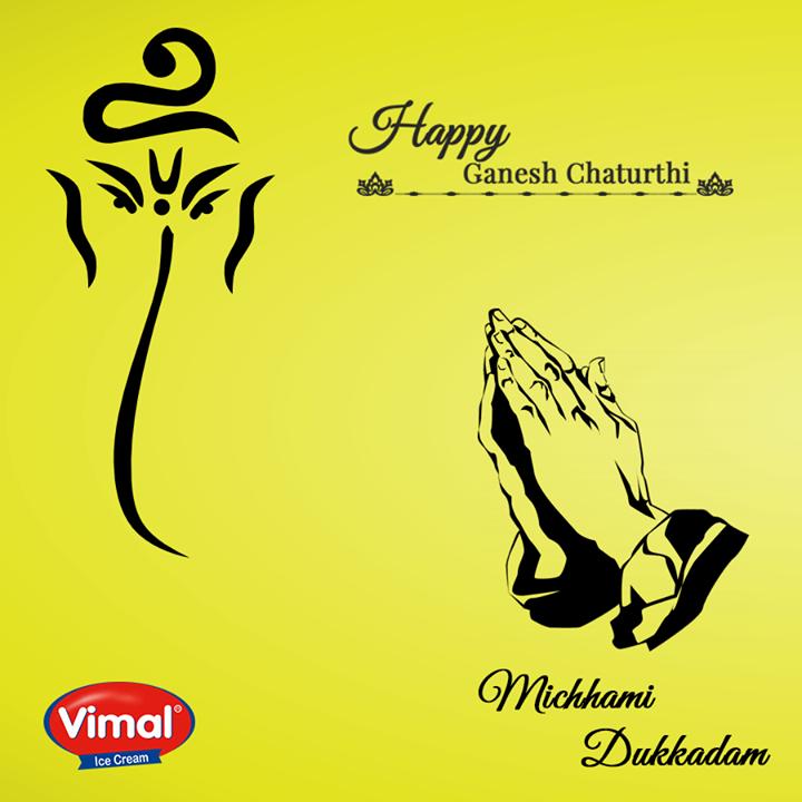 #Festive wishes to all.  #MichhamiDukkadam #HappyGaneshChaturthi Vimal Ice Cream