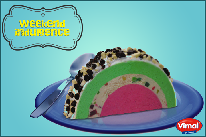 Indulge into the nutty fruity flavor of evergreen #CassataRollcuts this #Weekend!  #VimalIcecream #IceCreamLovers