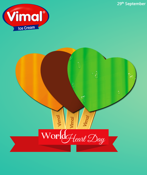 #Happiness is nothing more than a #HealthyHeart!  #WorldHeartDay #VimalIceCream