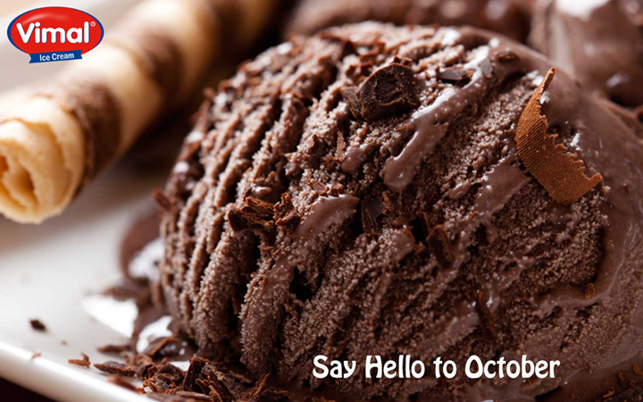 Say Hello the this bright sunny month of October with #VimalIcecream  #IceCream #IceCreamLovers