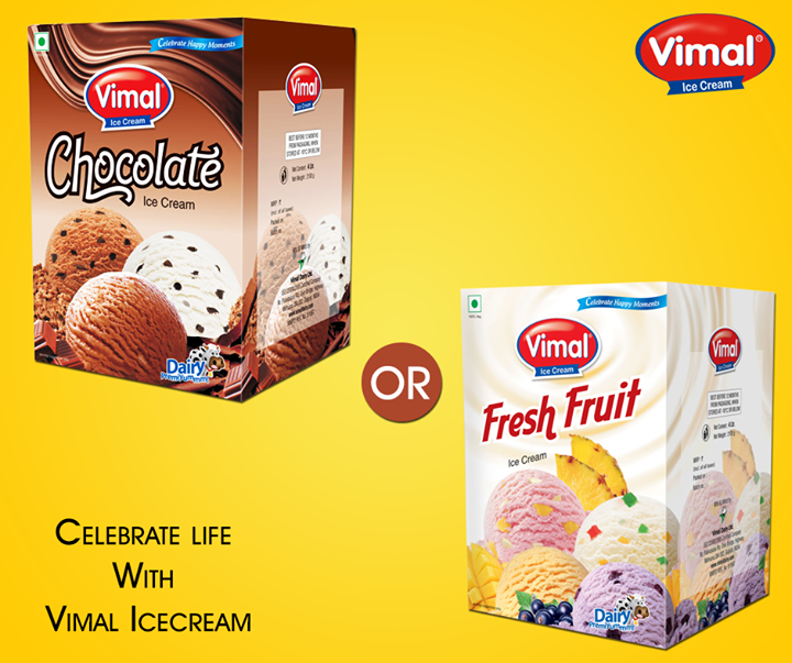Double your fun with two exciting flavours from Vimal Ice Cream . What is your pick for the day?   #IceCreamLovers #VimalIceCreams