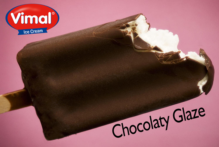 Delight yourself with #VimalClassicChocobar glazed with rich #Chocolate.  #Chocobar #AlltimeFavourite #VimalIcecream #Ahmedabad