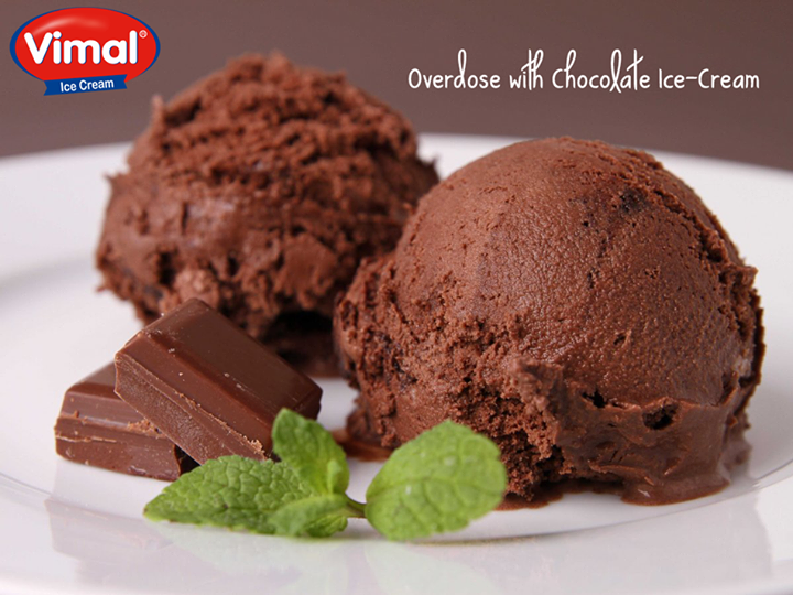 What tastes better than chocolate Ice-cream?  We didn't find any…did you?  #Chocolate #Lovers #Icecream #VimalIcecream #Ahmedabad