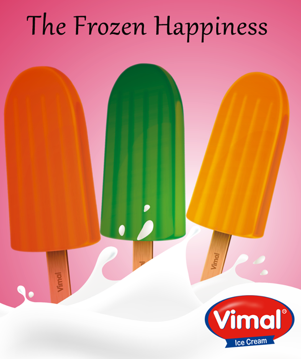 A frozen take on your favorite fruit which you cannot stop slurping around…  #Icecream #Popsicles #Happiness #VimalIcecream #Ahmedabad
