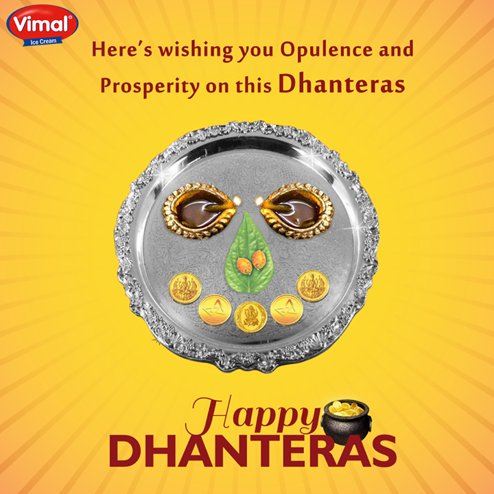 Here's wishing you Opulence and Prosperity on this Dhanteras!   #ShubhDhanteras