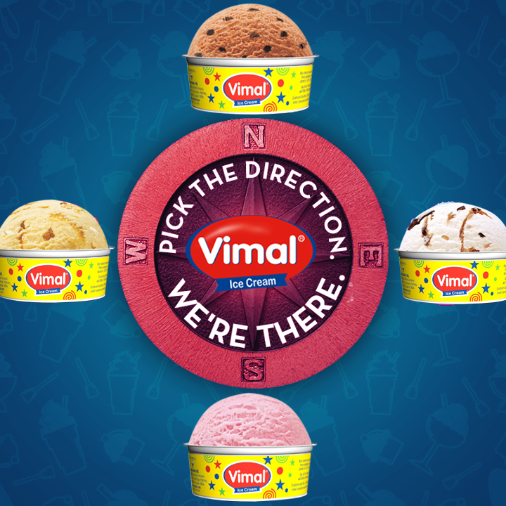 North - South, East OR West! You name it! We're there!  #IcecreamLovers #Weekend #VimalIcecream #Ahmedabad