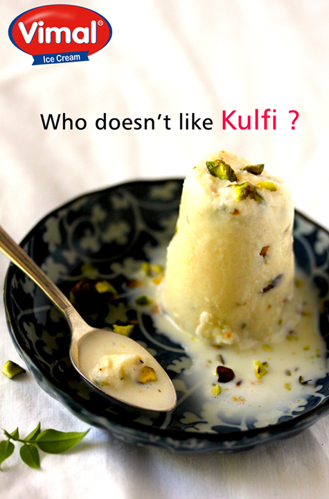 Don't we all <3 #Kulfis?   #IcecreamLovers #VimalIcecream #Ahmedabad