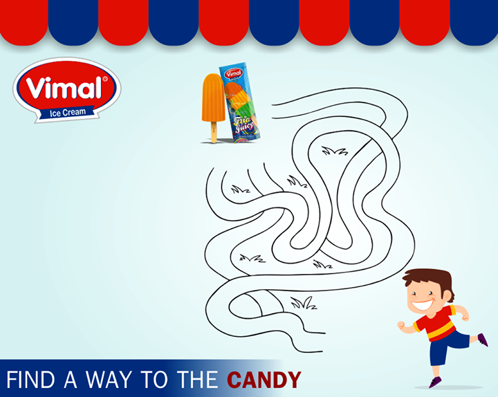 Time for some #weekendfun! Can you find a way to the #candy?  #VimalIceCreams #IceCreamLovers #Weekendishere #Funtimes