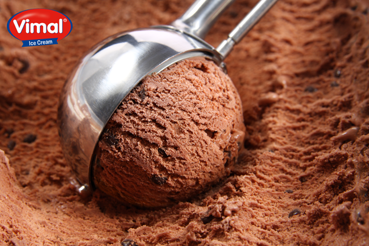 Happiness is having #Chocolate Ice-cream on a #Friday with #family !  #IceCreamLovers #VimalIceCream #TGIF #ChocolateIceCream