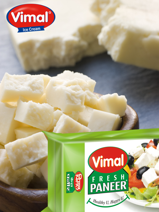 It's time to gorge on some delicious creamy #Paneer..  #Vimaldairy #PaneerLovers