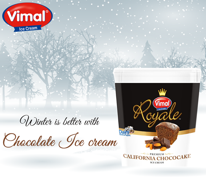 Cold, cozy nights, warm blankets & #Chocolate. A perfect #combo to get through the #FridayEvening!  #IceCreamLovers #VimalIceCreams #TGIF
