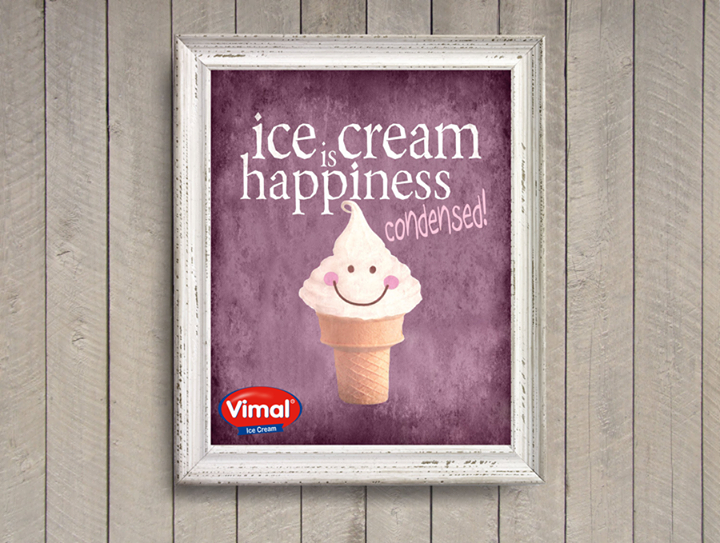All that happiness lies in an #Icecream!  #IcecreamLovers #Monday #VimalIcecream #Ahmedabad
