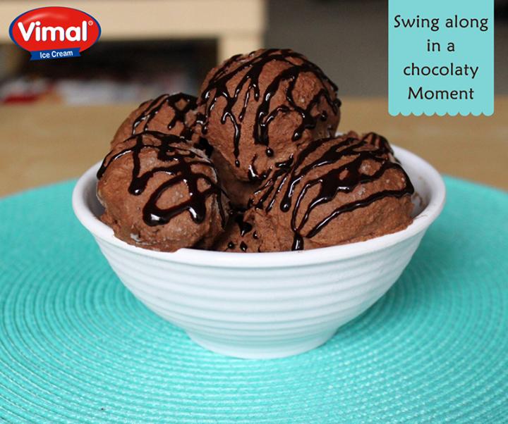 Take back a moment filled with chocolates!  #Chocolate #ChocolateIcecream #IcecreamLovers #VimalIcecream #Ahmedabad