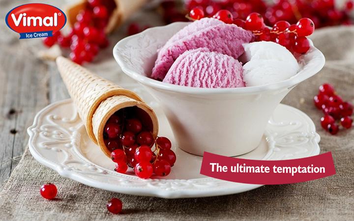 The ultimate temptation, straight from the sweetest storage of Vimal Ice Cream!  #Temptation #Midweek #IcecreamLovers #VimalIcecream #Ahmedabad