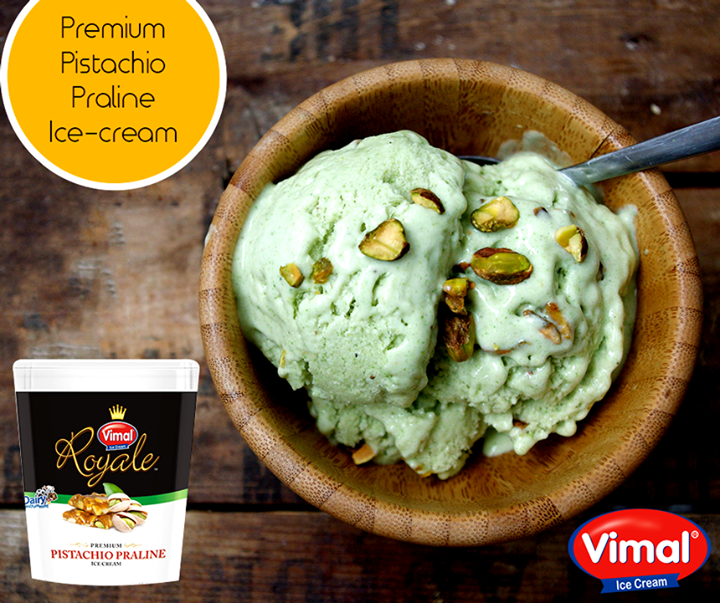 This ice cream tastes like the real deal. With huge chunk of the pistachio praline, indulge into this tantalizing dessert this festivity!  #PistachioPraline #PremiumIcecream #IcecreamLovers #VimalIcecream #Ahmedabad