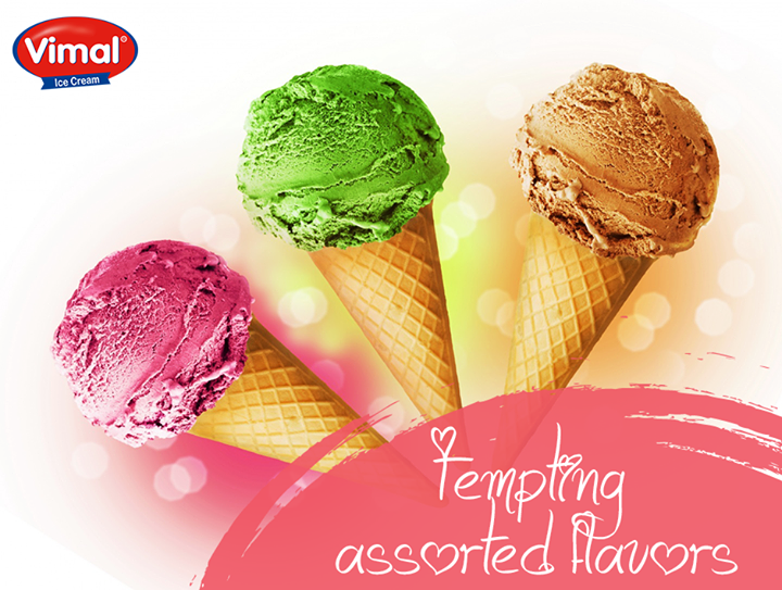 You won't be able to push away the temptation for Icecream!  #Icecream #AssortedFlavors #Weekend #Indulgence #IcecreamLovers #VimalIcecream #Ahmedabad