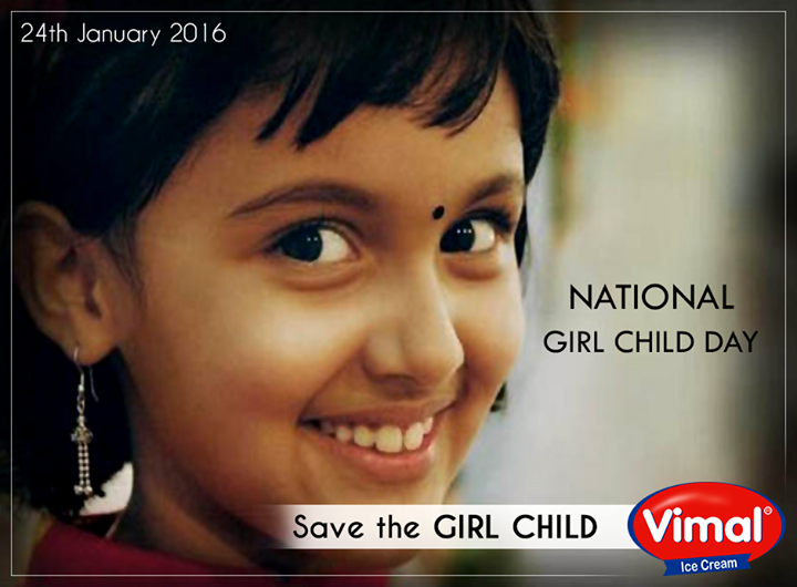 Vimal Ice Cream,  NationalGirlChildDay, SavetheGirlChild, GirlRising